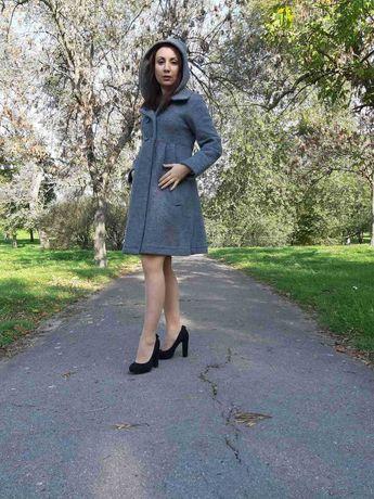 Пальто Zara, в отличном состоянии, размер М, шерсть