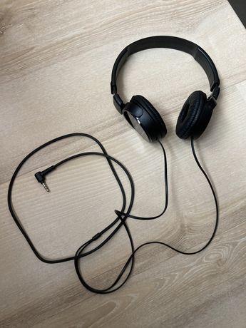Słuchawki SONY MDR-ZX110 czarne przewodowe nauszne stan idealny