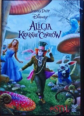 Alicja w krainie czarów DVD Disney Johnny Depp