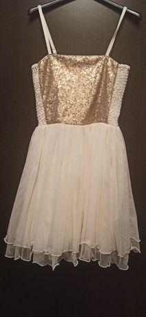 Sukienka tiulowa z cekinami 152/158