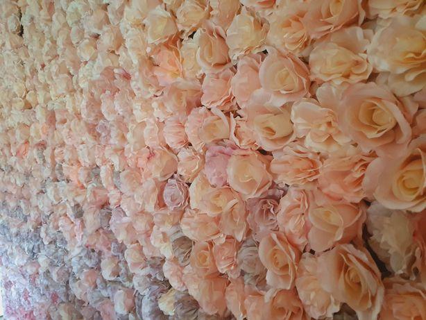 Ścianka kwiatowa dekoracja ślub wesele komunia chrzest urodziny