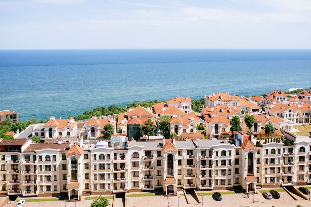 Новострой.2 раздельн квартира.Прямой вид моря.Аркадия.9 Жемч.Балкон-1