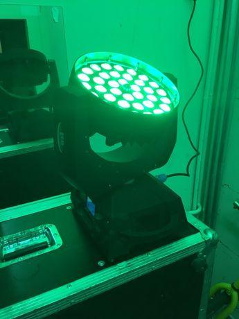 Nowe głowice led wash 36x18w RGBWAUV