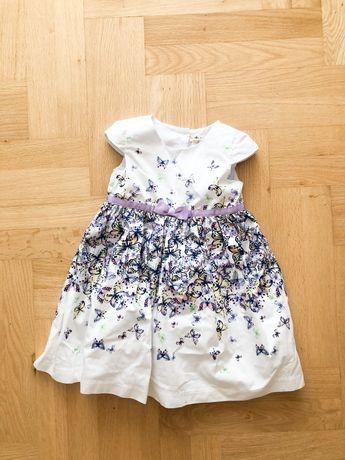 Sukienka z kokardka rozkloszowana tiulowa 98 w motyle shrinking violet