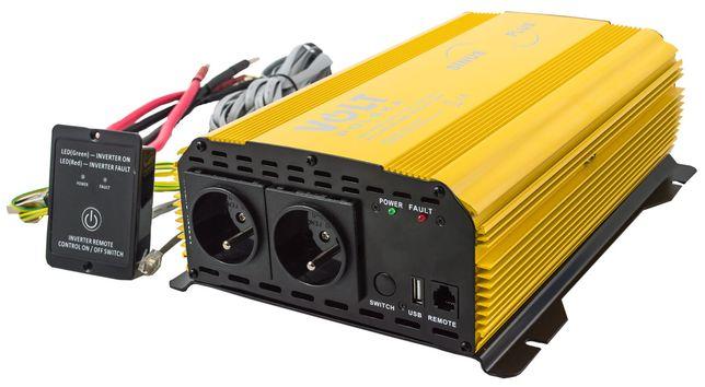 Przetwornica prądu napięcia 24V 230V 2000W/4000W SINUS-PLUS (PRZ71)