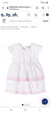 Sukienka niemowlęca 5 10 15 na lato rozmiar 80