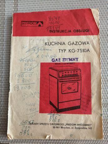 Instrukcja Kuchnia gazowa PREDOM