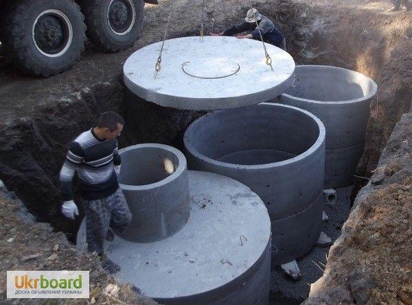 БЕТОННІ Круги КільцяСептики З бетону підКлючКаналізаціяЧорноземПослуги