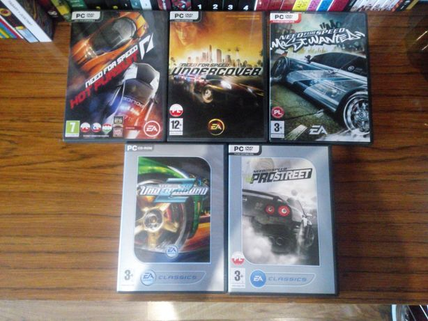 Need for speed most wanted, Underground 2 i inne.