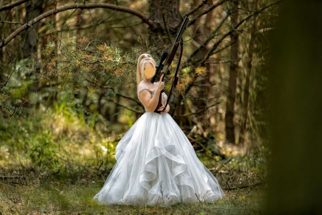 Piękna suknia ślubna Daniela Di Marino-Faustina - Księżniczka