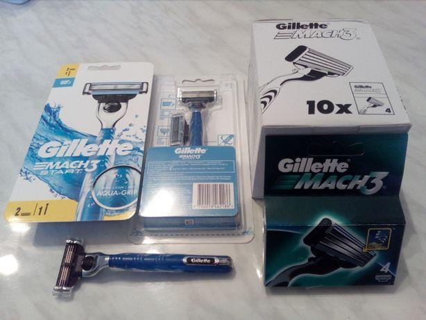 Gillette Mach3 maszynki startery i wkłady różne rodzaje