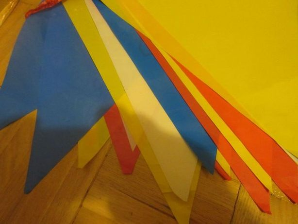trójkąty dekoracja na urodziny 5mb + 5 mb