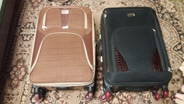 чемодан тканевый 4 колеса новый