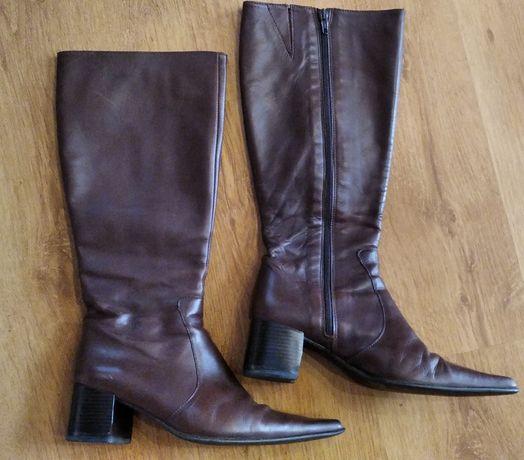 Сапоги р. 38-40 босоножки чоботи чобітки сапожки кожаные шкіряні