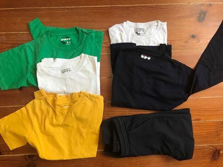 T shirt, sweat shirt, calças de fato treino Zippy NOVAS 8-9 anos