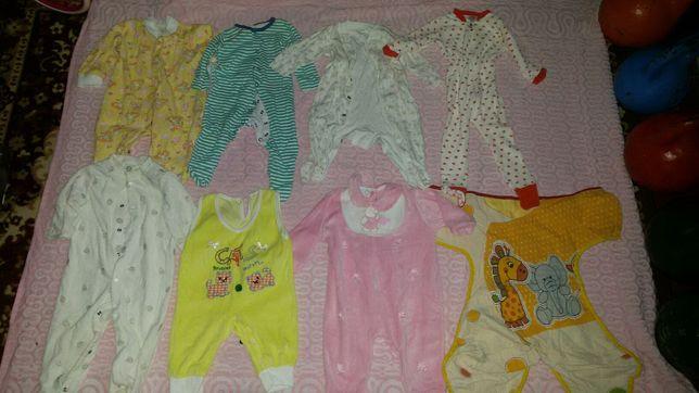 Пакет человечек, слип, пижама, кигуруми 0-24 міс. Розпродаж, дешево