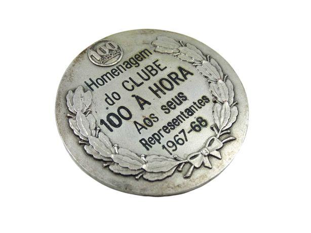 Medalha Homenagem do Clube 100 À Horas Aos Seus Representantes