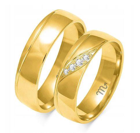 Złote OBRĄCZKI ŚLUBNE ZŁOTO pr.585 OE-207- super okazja