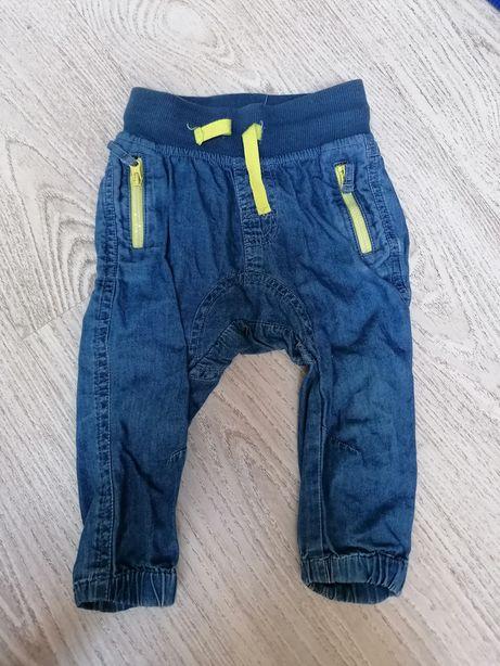 Spodnie chłopięce r.74cm CoolClub Smyk