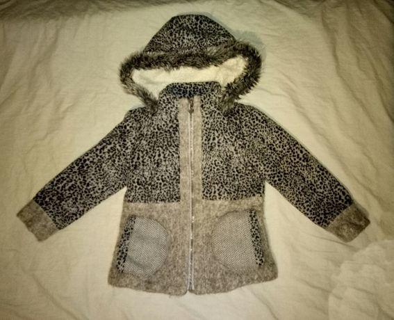 Детское теплое пальто 5-6 лет 116 см. рост Next
