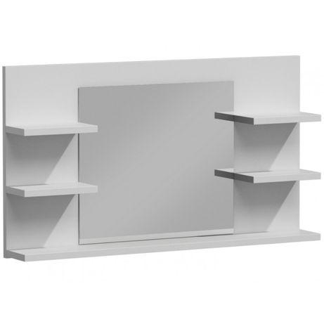 LUMO L5 / LUSTRO ŁAZIENKOWE z półkami / 80x13,6x50 cm