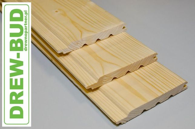 Podbitka drewniana boazeria softline 12 x 121 świerk skandynawsk elewa
