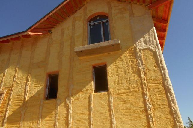 Утеплення Пінополіуретаном (ППУ)(даху, мансарди, фундаменту)