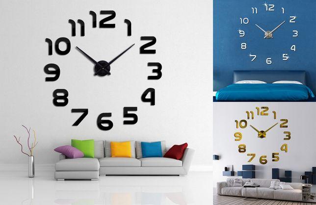 3Д часы настенные с арабскими цифрами 70-150см Бескаркасные часы 3D