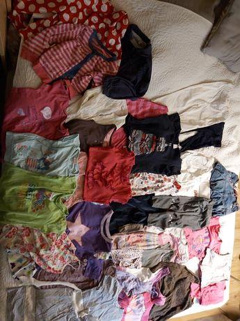 paka ubrań dla dziewczynki 110-116 sukienki