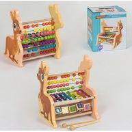 Деревяная развивающая игра по типу монтессори ксилофон кингуру