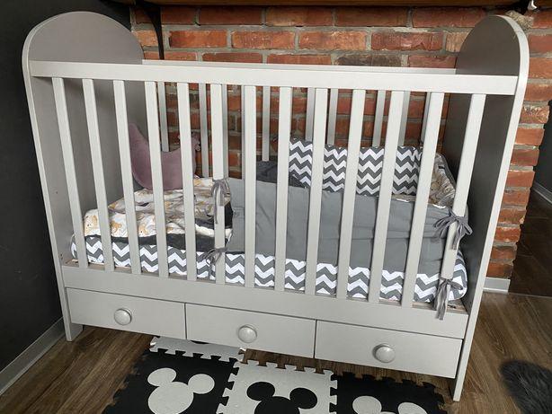 Łóżko dziecięce IKEA GONATT materac Vyssa pościel Biandaff