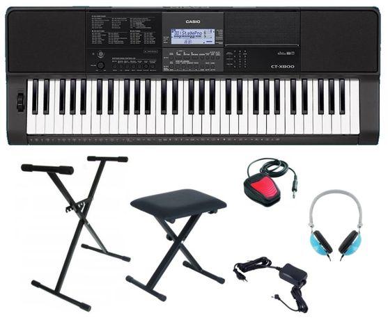 Keyboard Casio CT X800 Statyw Słuchawki Pedał NOWY