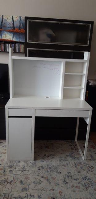 Biurko Ikea z nadstawką