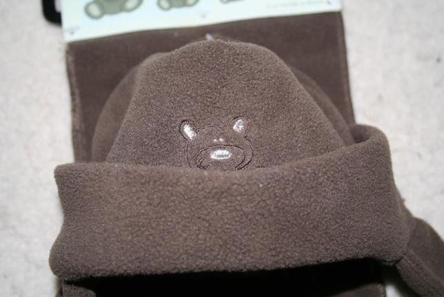 czapka szalik i rękawiczki dla noworotka POLAR