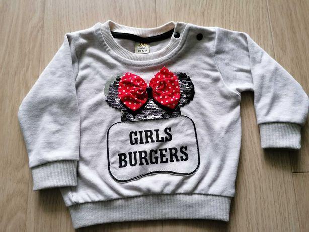 Bluza niemowlęca dla dziewczynki 80 cm