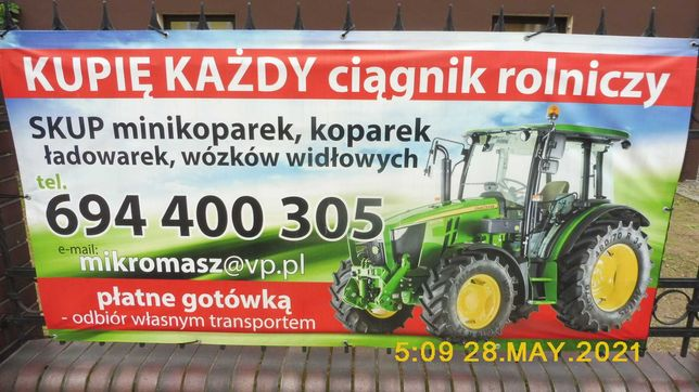 Ciągnik rolniczy KUPIĘ  ładowarkę wózek widłowy pleszew poznan