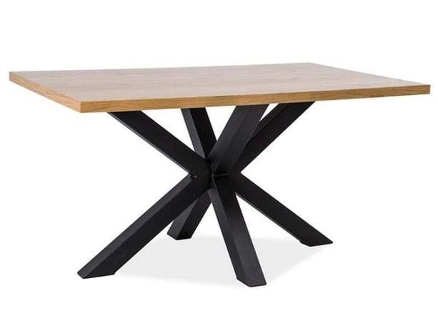 Stół loftowy CROSS 180x90 - okleina naturalna