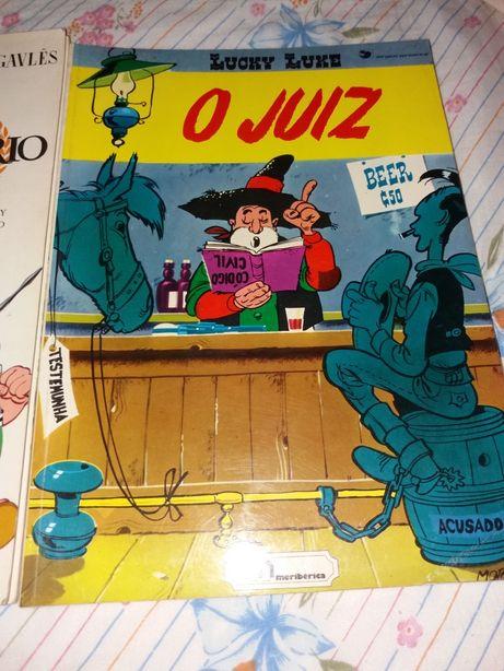 Livros antigos asterix e lucky Luke