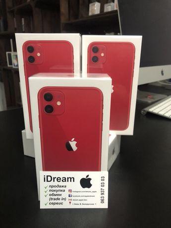 Apple iPhone 11 64 gb Red НОВЫЙ! ГАРАНТИЯ от МАГАЗИНА!