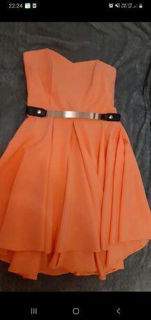 Piękna rozkloszowana sukienka koktajlowa M