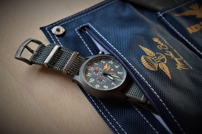 Aeronautica Militare Chrono Aviator Relógio Militar Profissional