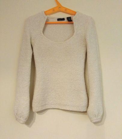 Wełniany sweter (ecru) ze ściąganymi rękawami - Victoria's Secret