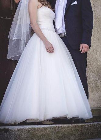 śliczna suknia ślubna+welon