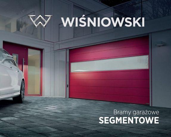 Brama Garażowa Segmentowa Wiśniowski ANTRACYT Drzwi Zewnętrzne Automat