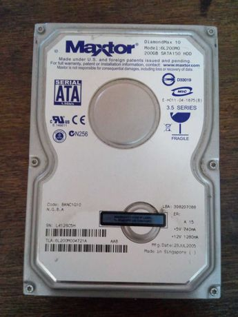 Жесткий диск 200Гб Sata