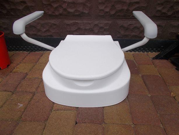 Nakładka sedes WC 130 kg toaleta siedzisko regulacja WYSYŁKA