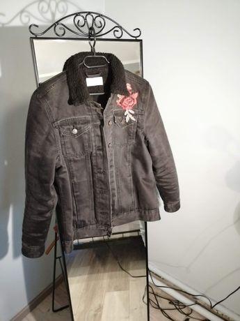 Katanka kurtka czarna z haftem New Look