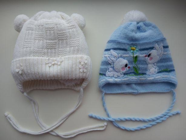 Шапка для новорожденных. Зимняя и осенняя.