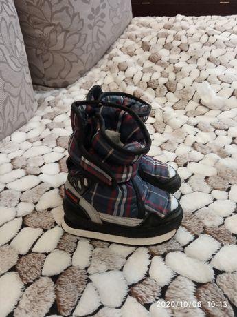 Чобітки, чоботи, зимові, черевички, уги, дутіки, демари, 22 розмір