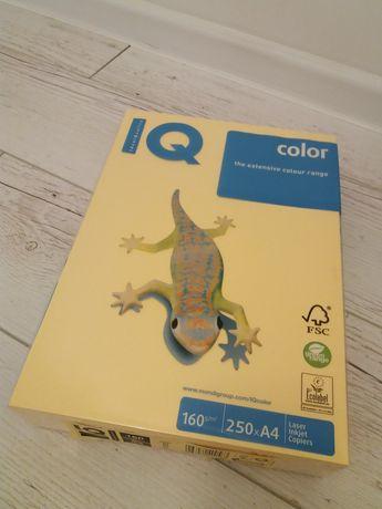 Papier do drukarki A4 160g IQ słoneczny żółty/pomarańczowy 1